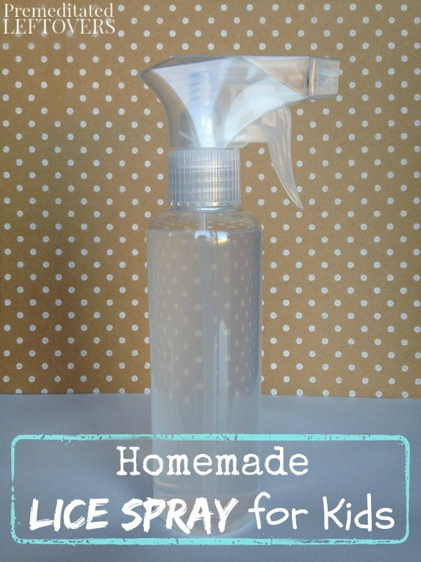 Homemade Lice Spray for Kids- Eliminating lice from a child's hair is not fun. This DIY hair spray is an easy way to arm your kids against lice naturally.