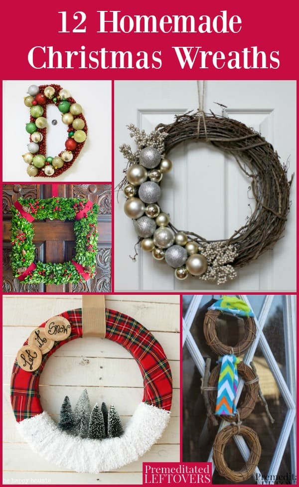 Homemade Christmas wreaths