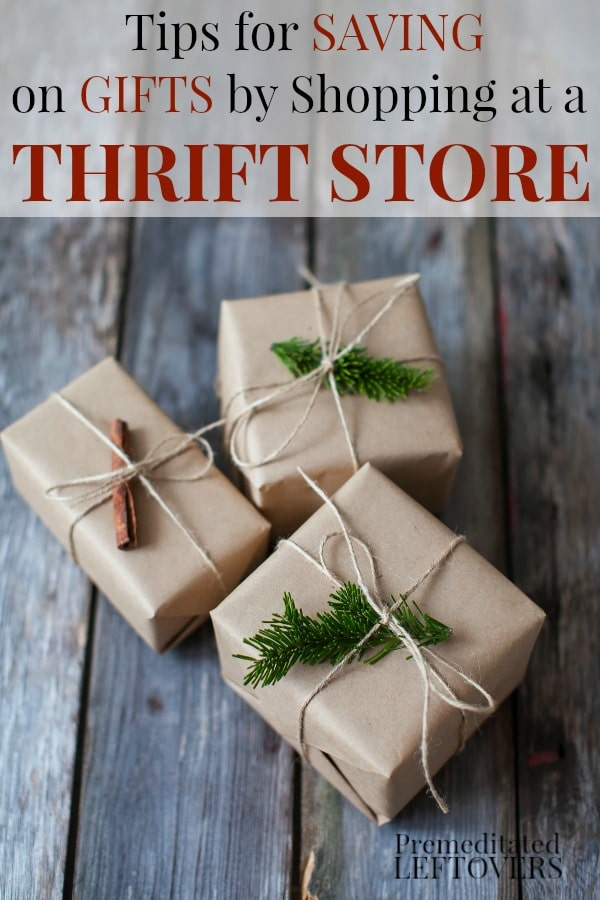 These 12 Tips for Saving on Gifts by Shopping at a Thrift Store will show you how to buy used items at thrift stores and turn them into nice gifts.