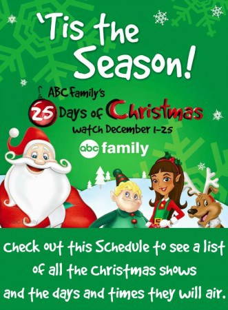Abc Family S 25 Days Of Christmas Schedule 2016