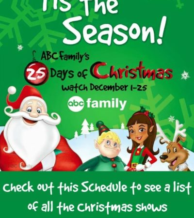 ABC Familys 25 days of Christmas TV Schedule