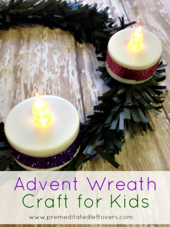 Dollar Store DIY: Advent Wreath Craft for Kids- Celebrate the weeks prior to Christmas with this child-friendly Advent wreath. It's so inexpensive and easy!