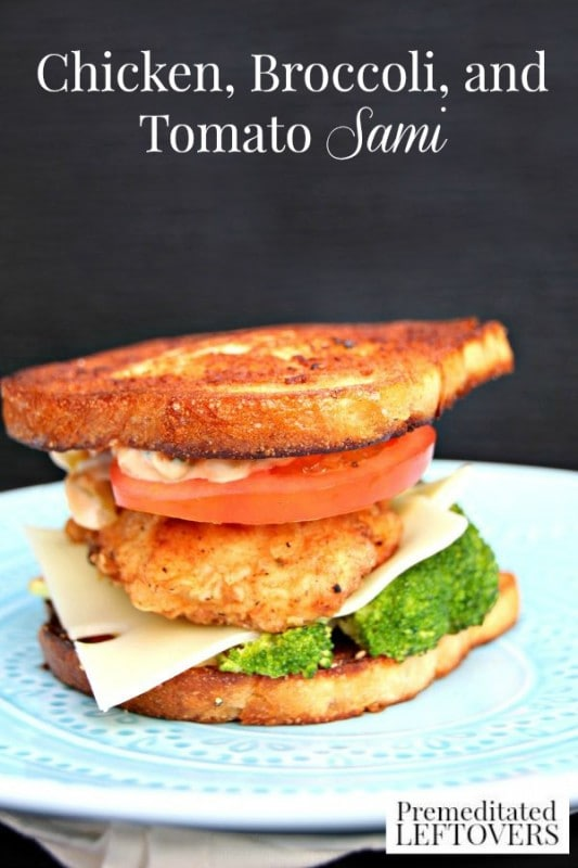Chicken, Broccoli, and Tomato Sami- Tower this sandwich high with chicken, broccoli, and fresh tomato. It's a recipe that is different and delicious.