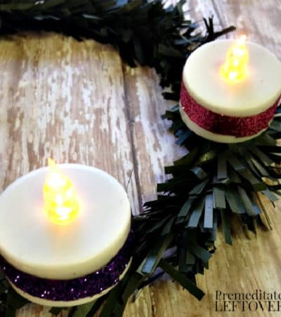 DIY Advent Wreath craft for kids