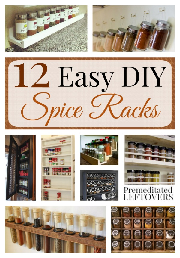 Easy DIY Spice Racks