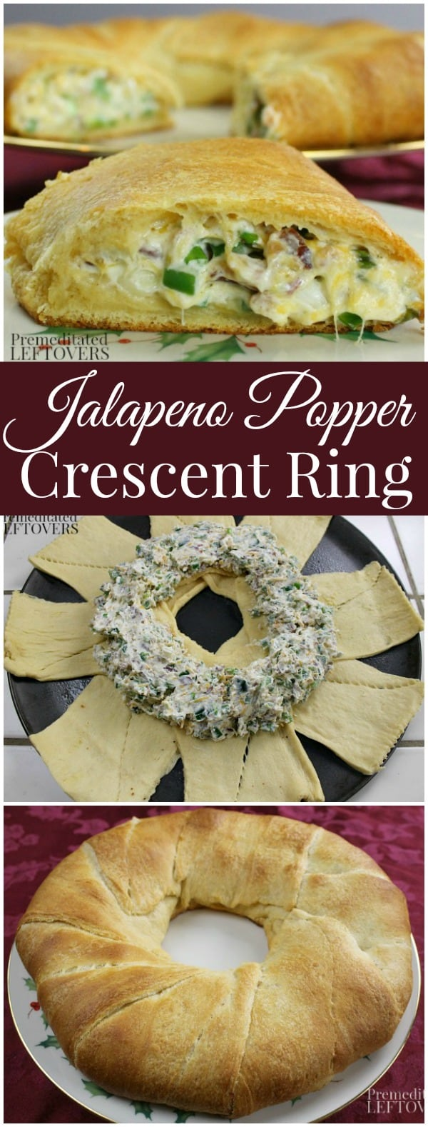 Easy Holiday Recipe - Jalapeno Popper Crescent Ring Recipe