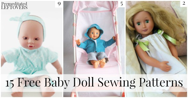 If you have a child in your life who loves dolls, these adorable free baby doll sewing patterns would be the perfect gift for them!