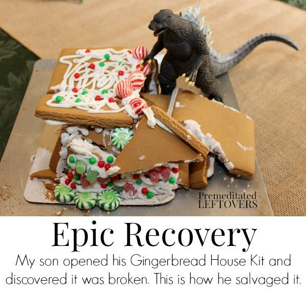 How to fix a broken gingerbread house