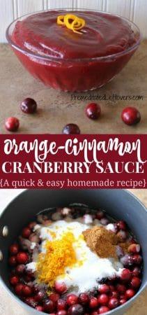 Orange cranberry sauce recipe with cinnamon