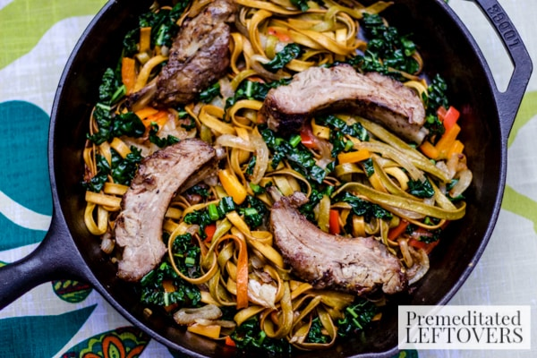 Pork Ribs and Kale Skillet