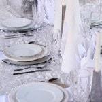 Winter Wonderland Tablescape Idea and DIY White Christmas Cones