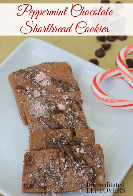 Peppermint Chocolate Shortbread Cookies- Do you enjoy baking holiday treats? The chocolate and peppermint in this shortbread cookie recipe is delightful!