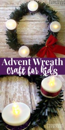 DIY Advent wreath craft for kids.