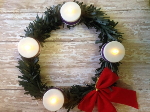 Dollar Store DIY: Advent Wreath Craft for Kids