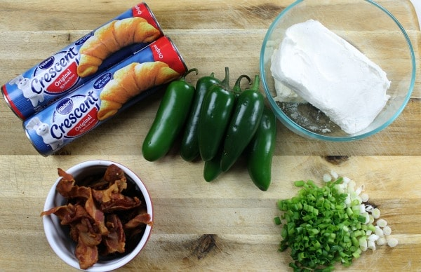 ingredients for jalapeno popper crescent ring recipe