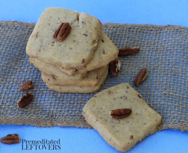 Pecan Shortbread Cookies- These shortbread cookies are quite simple to make. You will love the sweet, rich flavor and crunchy pecans in this recipe.