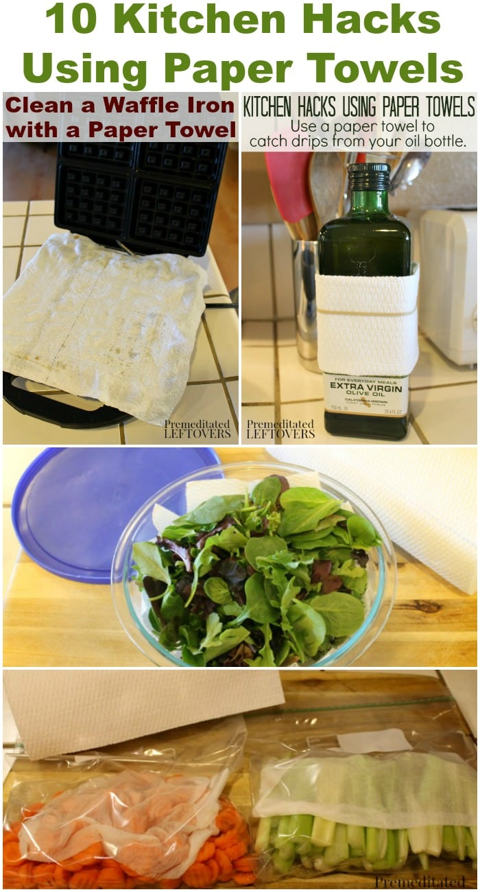 10 Kitchen Hacks Using Paper Towels - These kitchen tips using paper towels help simplify party preparations and clean up.