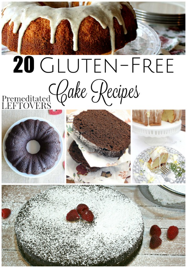 20 Gluten-Free Cake Recipes- These wonderful cake recipes are completely gluten-free. Enjoy classic flavors like red velvet or a decadent mocha fudge cake.