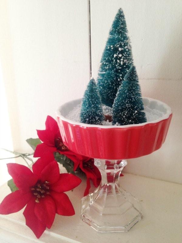 Athropologie Inspired Christmas Tree Centerpiece