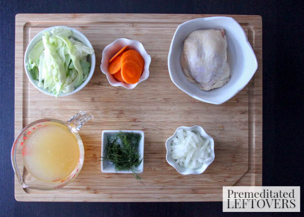 Easy Chicken Collezione Soup- ingredients
