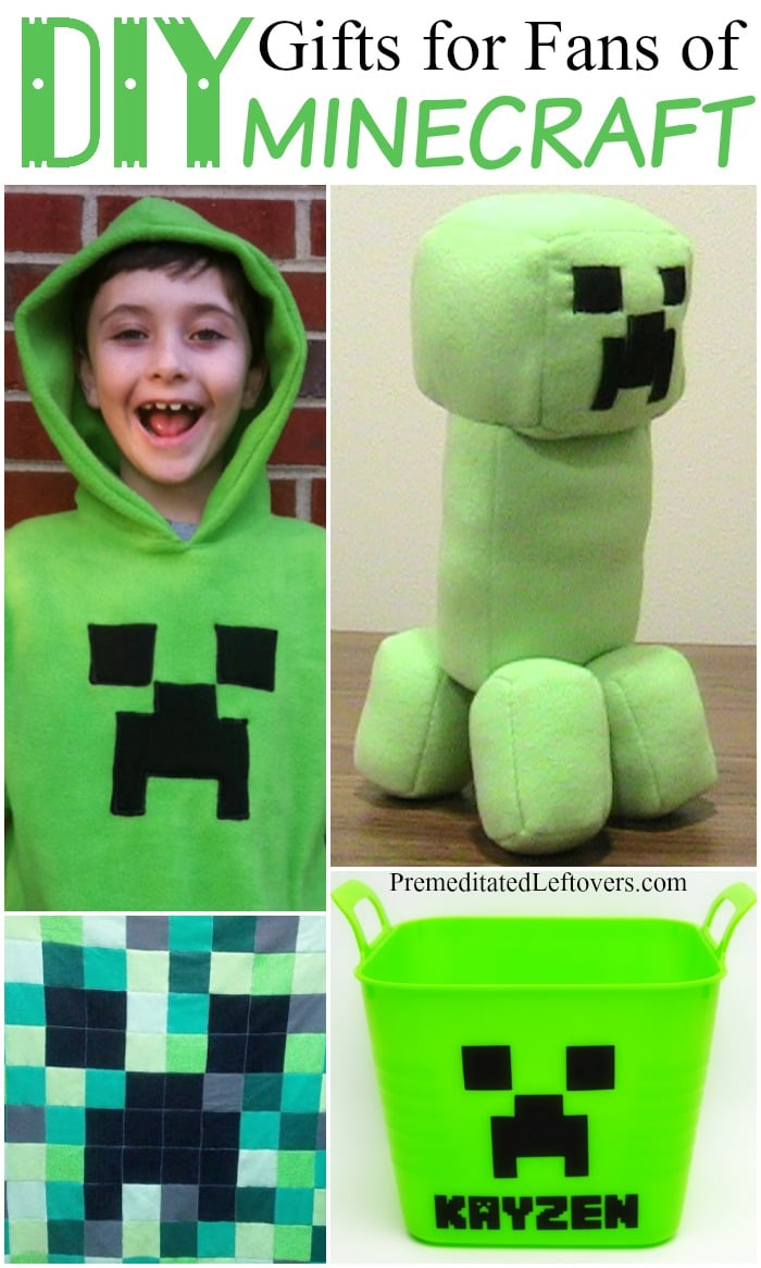 DIY Gifts for Minecraft Fans- Fun DIY crafts, Minecraft crafts, DIY gifts for kids who like Minecraft, Minecraft DIY gifts and Minecraft Creeper Crafts.