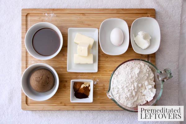 Postcard Gingerbread Cookies ingredients