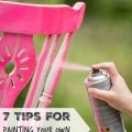 7 Tips for Painting Your Own Furniture- Do you have an old piece of furniture you're ready to paint? Take a look at these helpful tips before you begin.