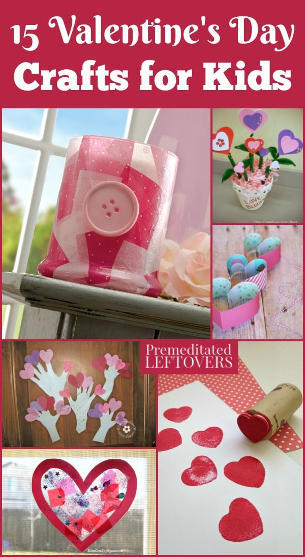 These Valentine's Day crafts for kids can be used for decorations or given as gifts. They include fun crafts for kids of any age!