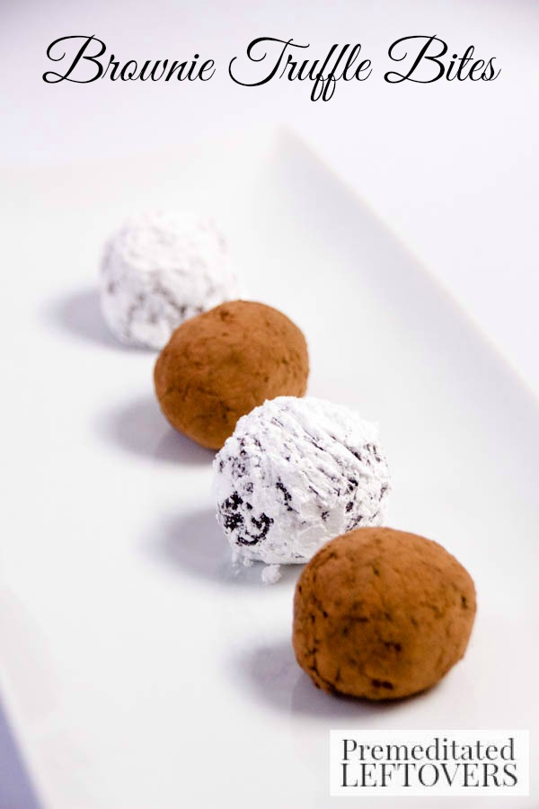 Brownie Truffle Bites- This decadent dessert is a mix between chocolate brownies and bite-sized truffles. Try them the next time you crave chocolate!