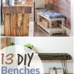 DIY Benches- Benches are the perfect way to provide seating and charm to any space. Here are 13 DIY benches for indoors and outdoors, too!