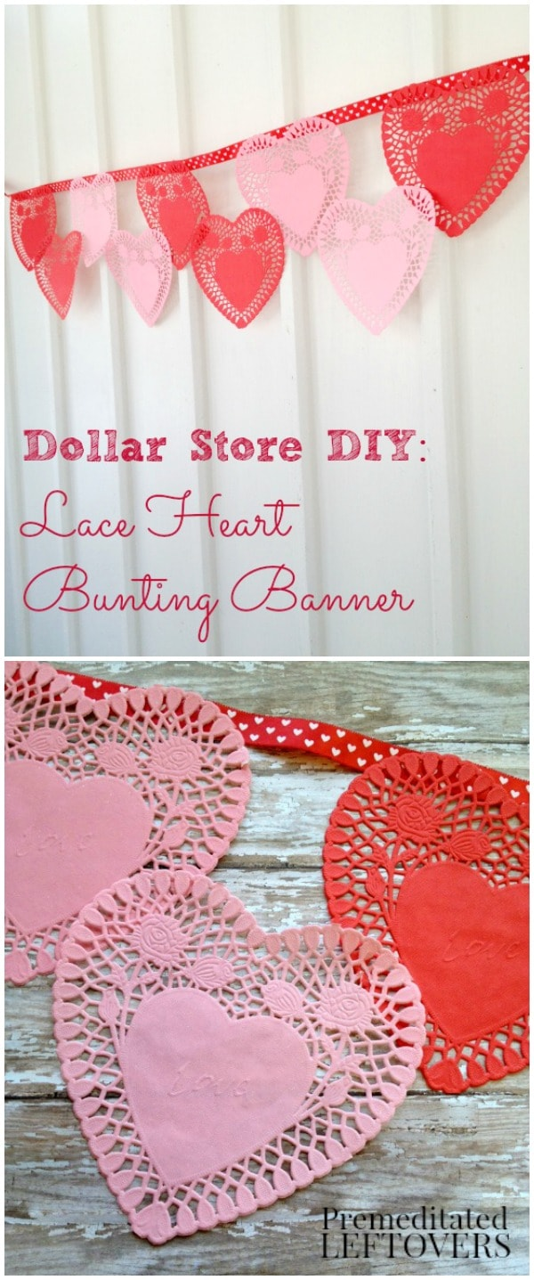 Paper Lace Heart Bunting Valentine S Day Banner