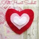 How to Make a Felt Heart Sachet - Make this easy heart sachet for Valentine's Day using felt, glue, and essential oils. No sewing required!