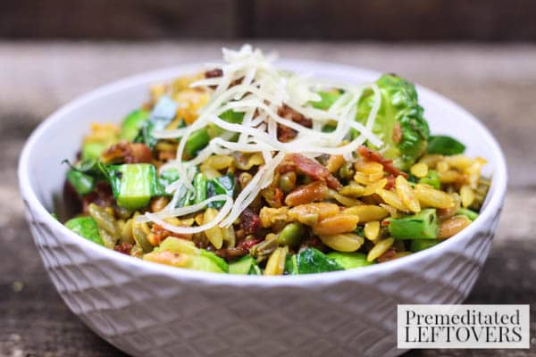 Parmesan Orzo with Brussels Sprouts & Bacon final