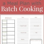 How to Create a Meal Plan with Batch Cooking