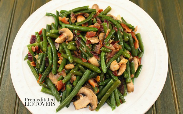 green bean recipe with mushrooms and bacon