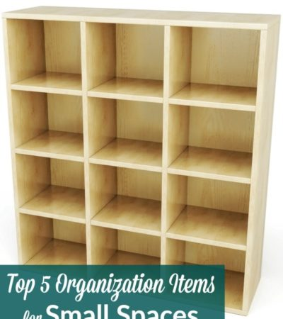 Top 5 Organization Items for Small Spaces- If you live in a small space, staying organized is a must. These 5 items will improve storage and keep you sane!