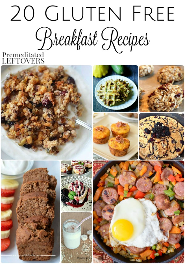 20 Gluten-Free Breakfast Recipes- Here are 20 amazing breakfast recipes that are gluten-free. Make a breakfast date and get cooking!