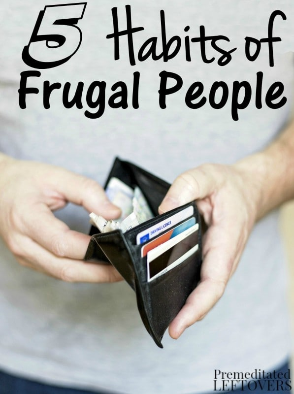 5 Habits of Frugal People