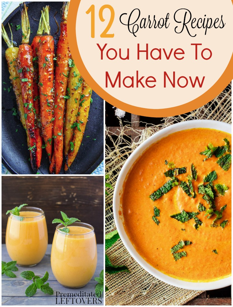 12 Great Carrot Recipes- Looking for new ways to enjoy carrots? Check out these carrot recipes and some tips for storing them so they stay crunchy!