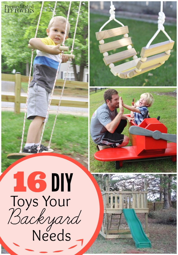 Diy backyard play sets and toys tutorials for Unique swings for kids