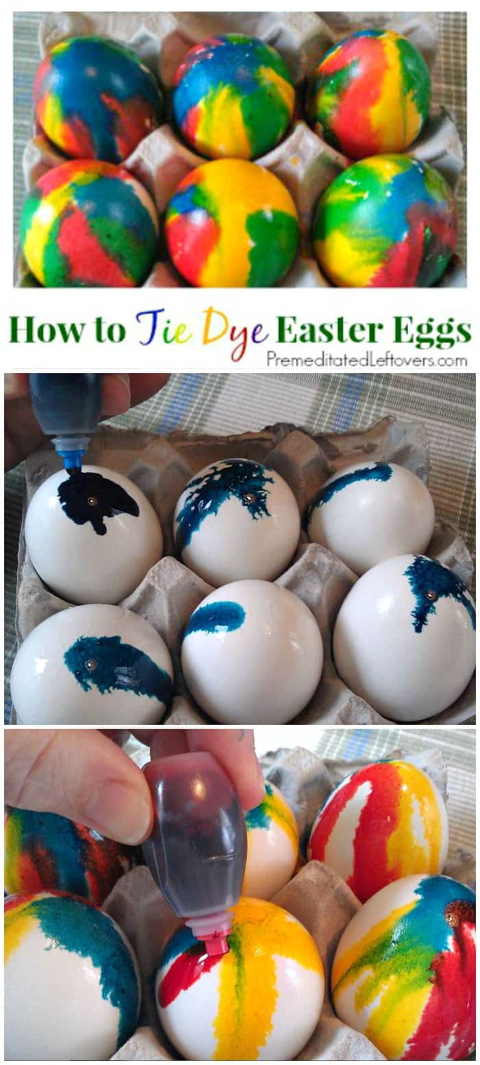How to make tie-dye Easter eggs with food coloring and vinegar