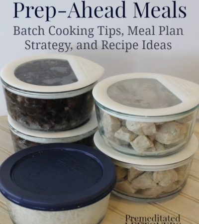 How to save money with prep-ahead Meals + Batch cooking pork and beans