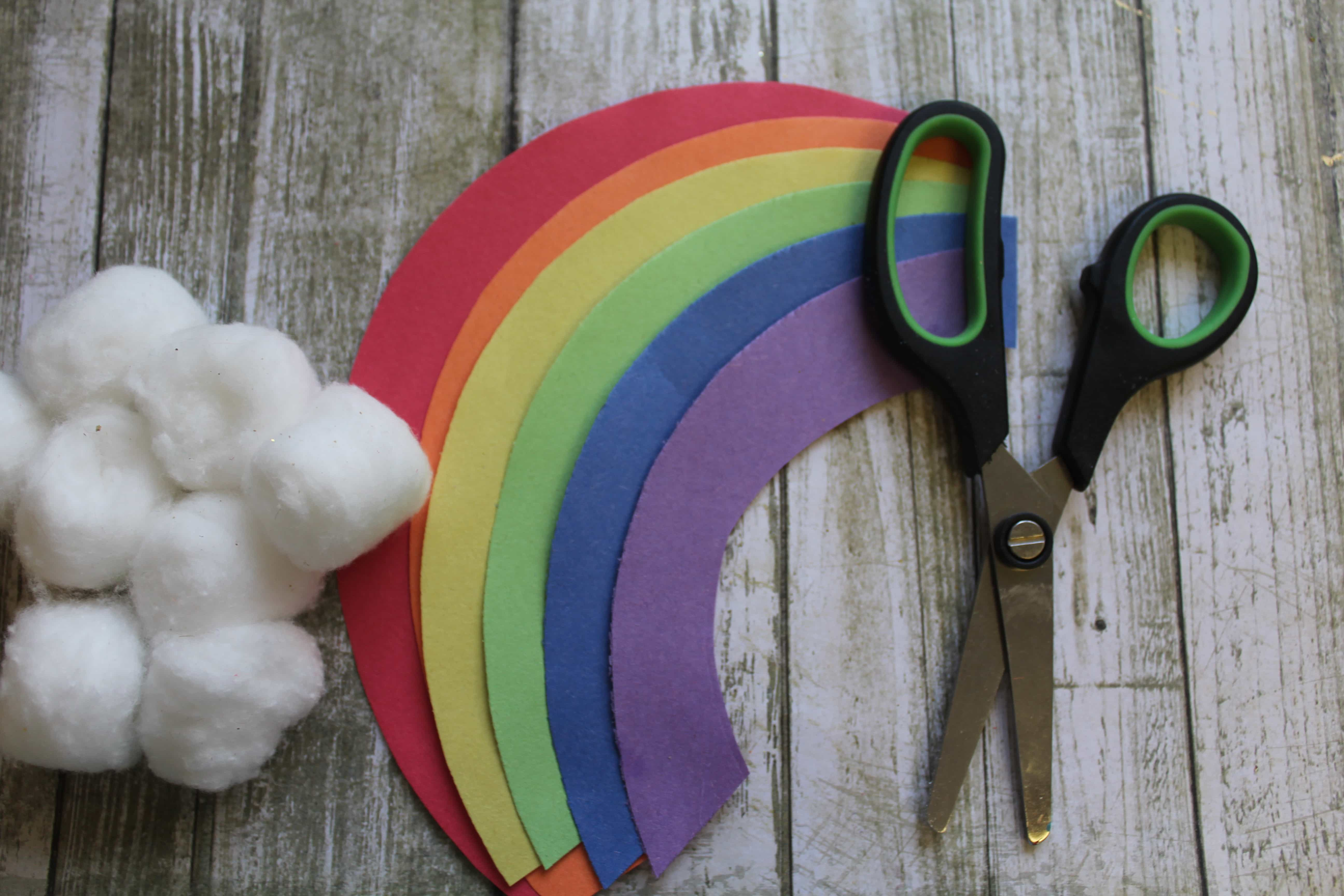 St. Patrick's Day Leprechaun Trap Craft for Kids making rainbow