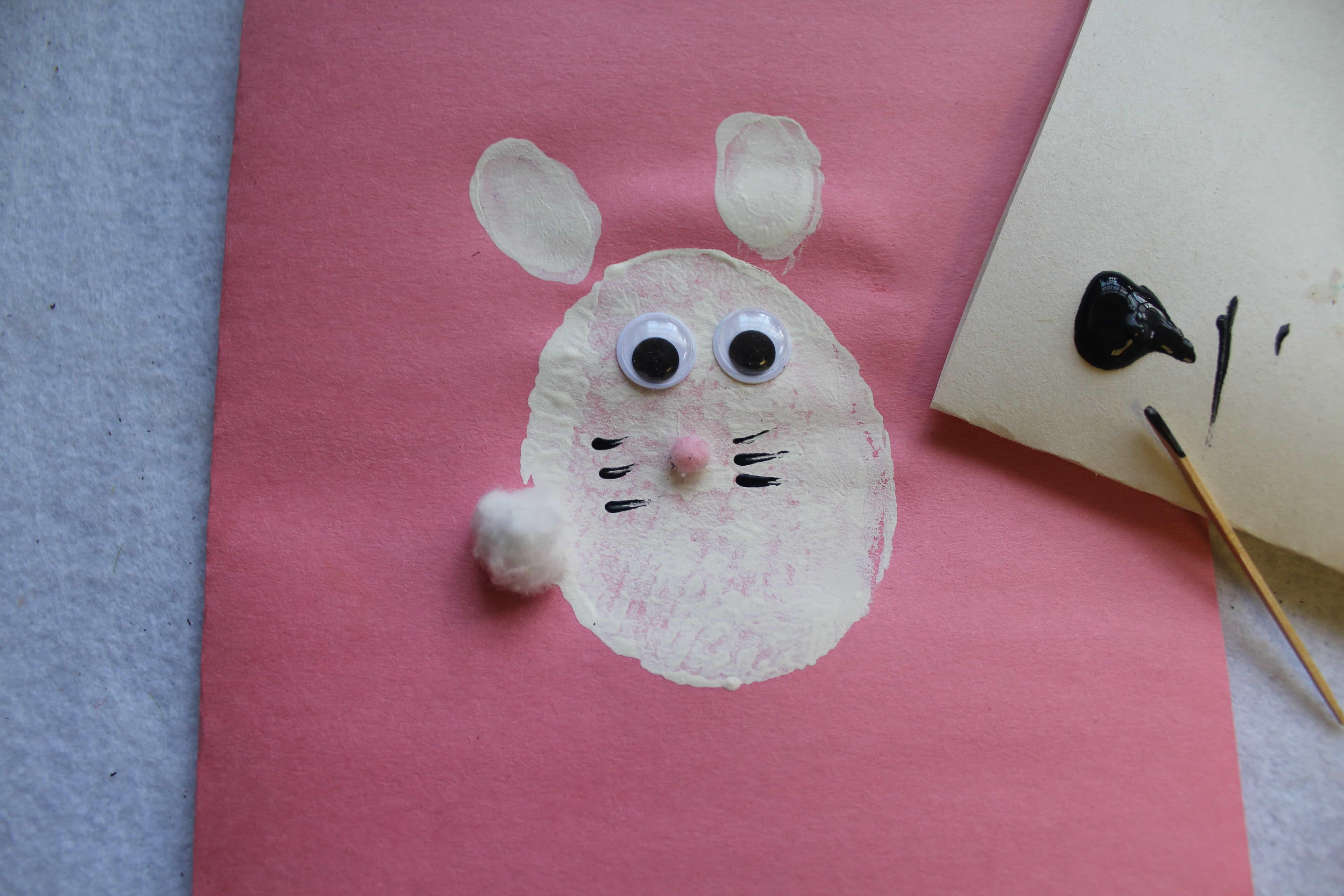 Handmade Bunny Stamps for Kids