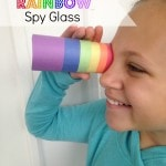 DIY Lucky Leprechaun Rainbow Spy Glass- This spy glass is an easy and frugal craft for St. Patrick's Day. Little ones will love using them to hunt for gold!