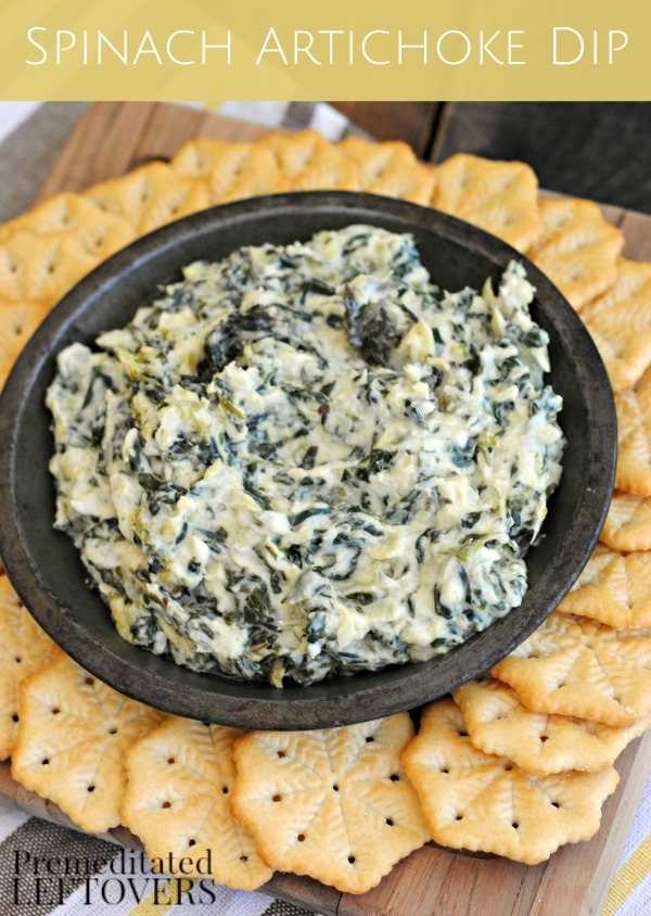 Spinach Artichoke Dip Recipe- This delicious spinach and artichoke dip is easy to prepare and makes the perfect side or appetizer for your next big event!