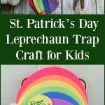 St. Patrick's Day Leprechaun Trap Craft for Kids - Little ones will love making this fun leprechaun trap and waiting to see if it works on St. Patrick's Day!