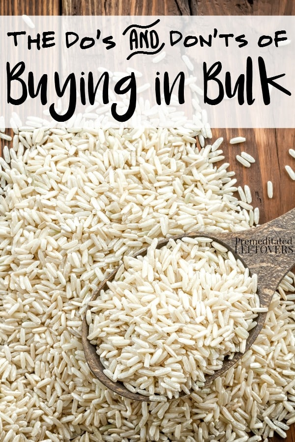 The Dos and Don'ts of Buying in Bulk-Tips for which items you should buy in bulk, what to do when buying in bulk to make your purchases last, and what you should avoid when you buy in bulk.