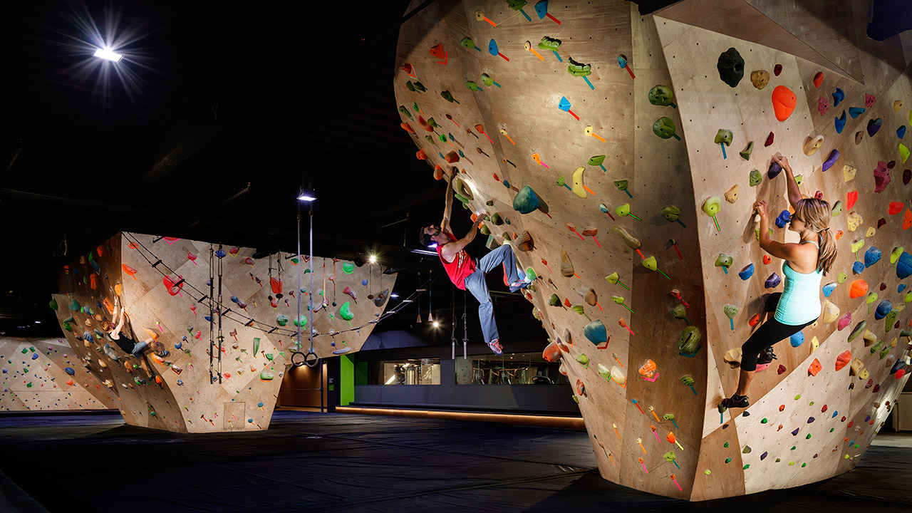 Rock Climbing at Whitney Peak- Check out the world's tallest climbing wall and other athletic activities at the Whitney Peak BasecCamp
