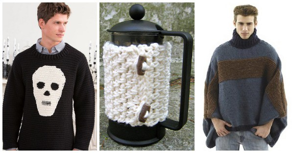 Free Crochet Patterns for Men- Check out these 12 free men's crochet patterns. They include gifts he will love such as sweaters, hats, and scarves.